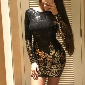 Dresses & Skirts - Slim fit black party dress